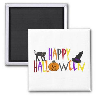 Feliz Halloween colorido Imán Cuadrado