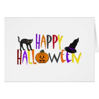 Feliz Halloween colorido Tarjeta De Felicitación