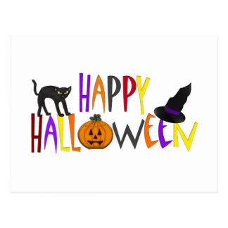 Feliz Halloween colorido Tarjeta Postal