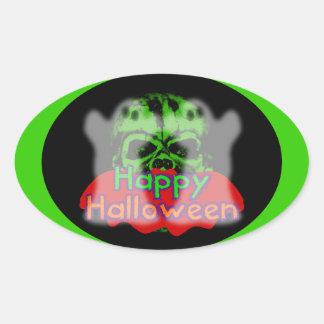 Feliz Halloween combinado Colcomanias Oval Personalizadas