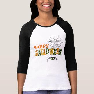 Feliz Halloween con la araña y el Web Camiseta