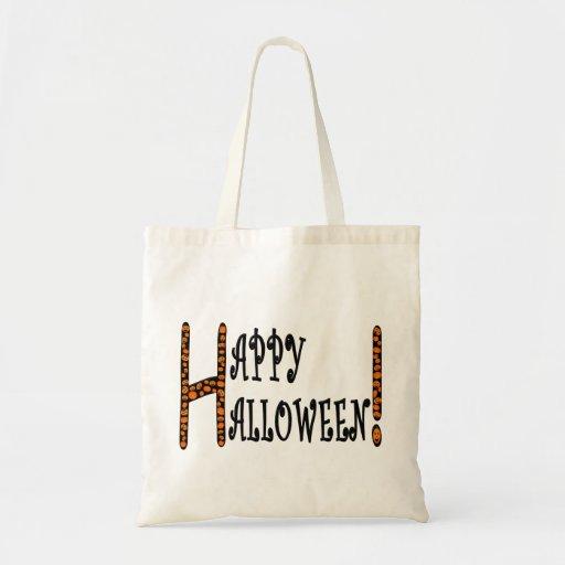 Feliz Halloween con las calabazas del bebé Bolsa Tela Barata