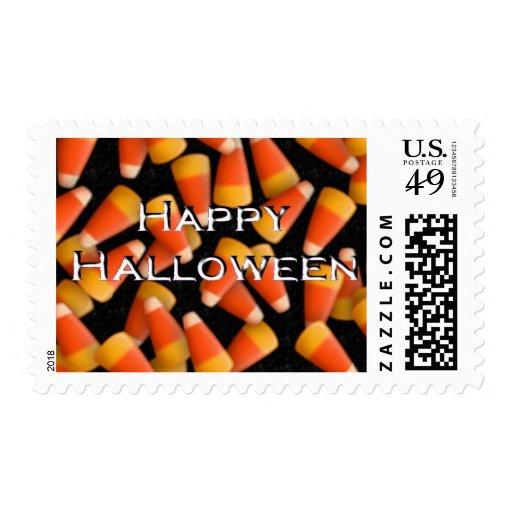 Feliz Halloween con las pastillas de caramelo Estampilla