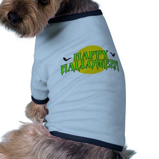 Feliz Halloween con los palos Camiseta Con Mangas Para Perro