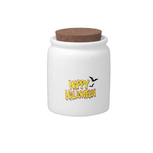 feliz Halloween con los palos yellow.png Jarra Para Caramelo