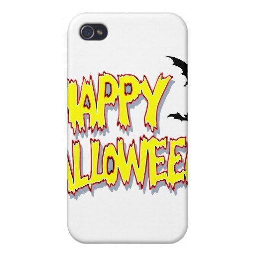 feliz Halloween con los palos yellow.png iPhone 4 Carcasas