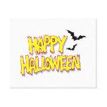 feliz Halloween con los palos yellow.png Impresiones En Lienzo Estiradas