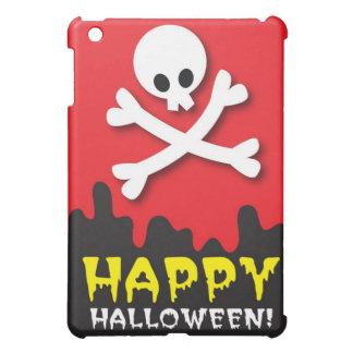 ¡Feliz Halloween! cráneo y bandera pirata