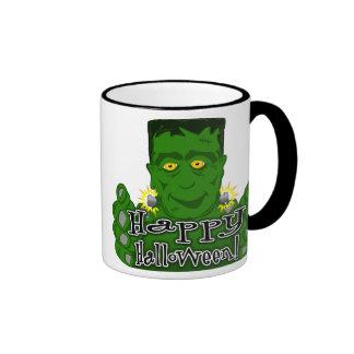 ¡Feliz Halloween de Frankie! Tazas De Café