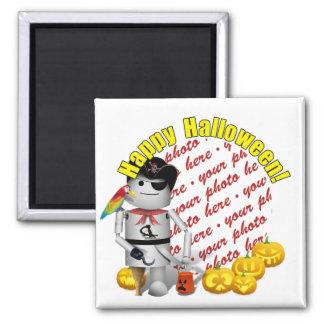 Feliz Halloween de Robo-x9 Imán Cuadrado