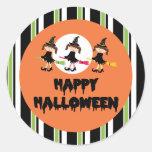 Feliz Halloween de tres pequeño brujas Pegatina