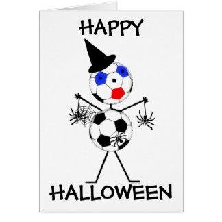 Feliz Halloween del fútbol Tarjeta De Felicitación