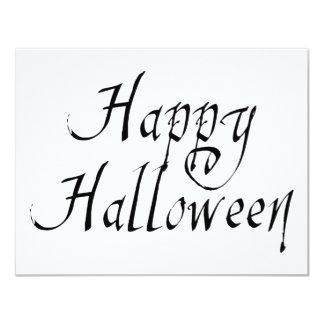 """Feliz Halloween del garrapatos del pirata Invitación 4.25"""" X 5.5"""""""