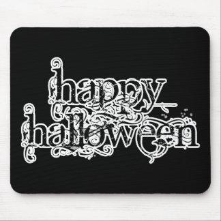 Feliz Halloween del Grunge de Swirly Alfombrillas De Ratón