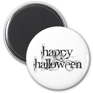 Feliz Halloween del Grunge de Swirly Iman De Frigorífico