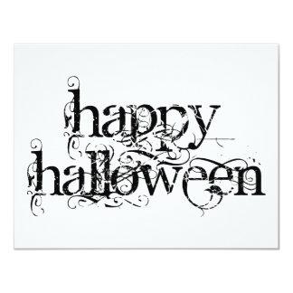 """Feliz Halloween del Grunge de Swirly Invitación 4.25"""" X 5.5"""""""