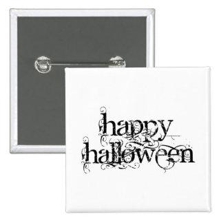 Feliz Halloween del Grunge de Swirly Pin Cuadrada 5 Cm