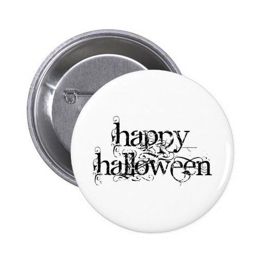 Feliz Halloween del Grunge de Swirly Pin Redondo De 2 Pulgadas