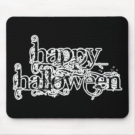 Feliz Halloween del Grunge de Swirly Tapetes De Ratón