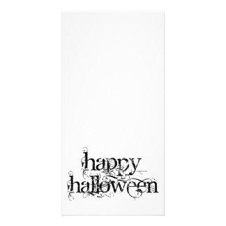 Feliz Halloween del Grunge de Swirly Tarjetas Con Fotos Personalizadas