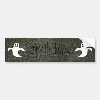 Feliz Halloween del Grunge del vintage de los fant Pegatina De Parachoque