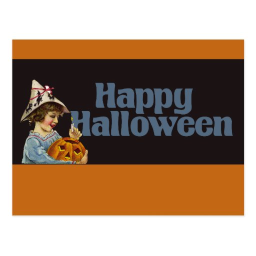 Feliz Halloween del vintage Tarjeta Postal