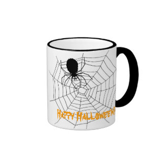 ¡Feliz Halloween del Web de araña!! 2 Tazas De Café