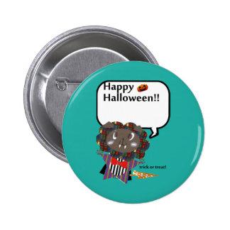 Feliz Halloween Draculion lindo Pin Redondo De 2 Pulgadas