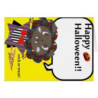 Feliz Halloween Draculion lindo Tarjeta De Felicitación