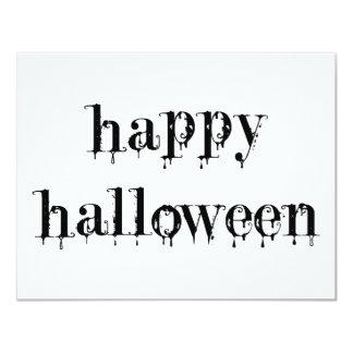 """Feliz Halloween Drippy de la sangre Invitación 4.25"""" X 5.5"""""""
