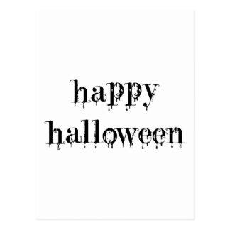 Feliz Halloween Drippy de la sangre Tarjetas Postales