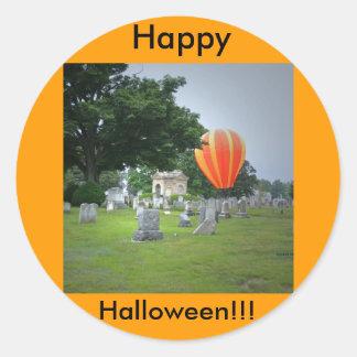 ¡Feliz Halloween ¡El frecuentar Pegatinas Redondas
