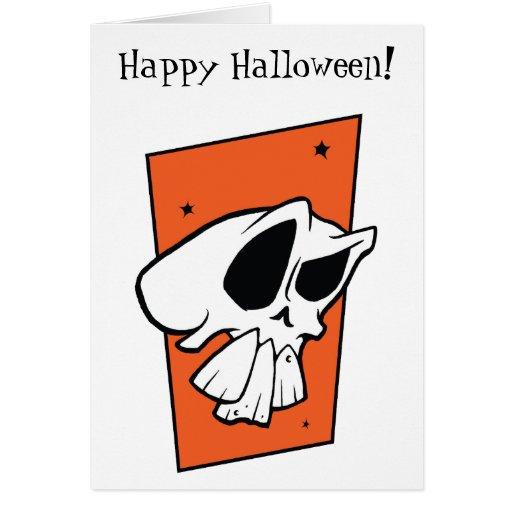 ¡Feliz Halloween enrrollado del cráneo! Tarjeta