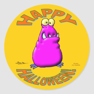 Feliz Halloween espeluznante Pegatina Redonda