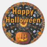 Feliz Halloween Etiqueta Redonda