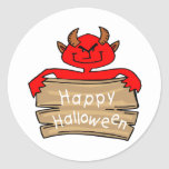 Feliz Halloween Etiquetas Redondas
