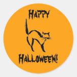 ¡Feliz Halloween! Etiquetas Redondas