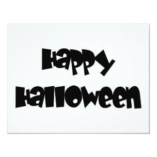 "Feliz Halloween feliz Invitación 4.25"" X 5.5"""