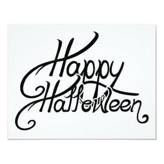 """Feliz Halloween festivo fantasmagórico Invitación 4.25"""" X 5.5"""""""