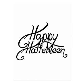 Feliz Halloween festivo fantasmagórico Postal