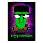 Feliz Halloween Frankie Tarjeta De Felicitación