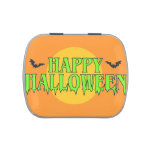 Feliz Halloween Frascos De Dulces