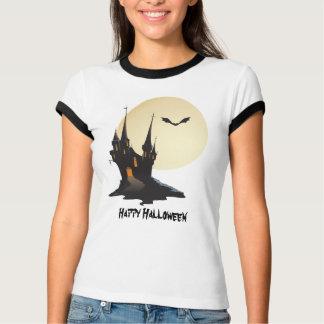 Feliz Halloween frecuentado fantasmagórico del Remera
