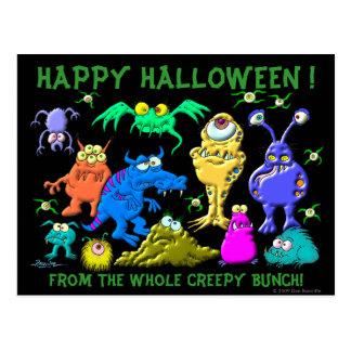 Feliz Halloween Fron el manojo espeluznante del co Tarjeta Postal