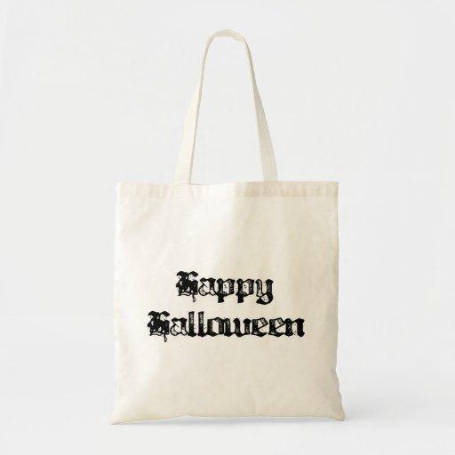 Feliz Halloween gótico del sello Bolsas