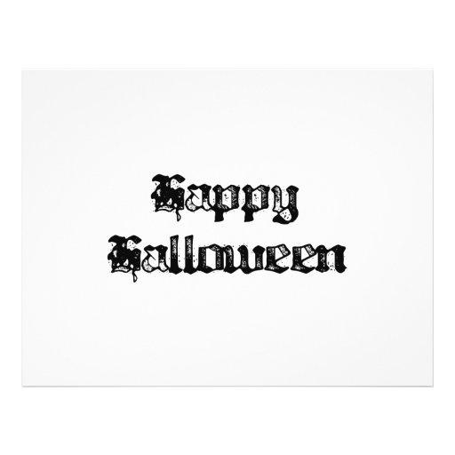 Feliz Halloween gótico del sello Flyer A Todo Color