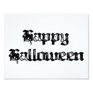 """Feliz Halloween gótico del sello Invitación 4.25"""" X 5.5"""""""