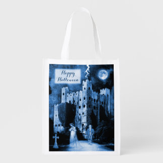 Feliz Halloween gótico frecuentado del castillo Bolsas De La Compra