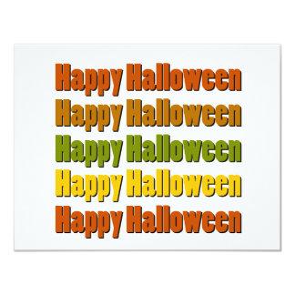 """Feliz Halloween Invitación 4.25"""" X 5.5"""""""