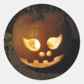 Feliz Halloween - Jack O'Lantern Pegatina Redonda